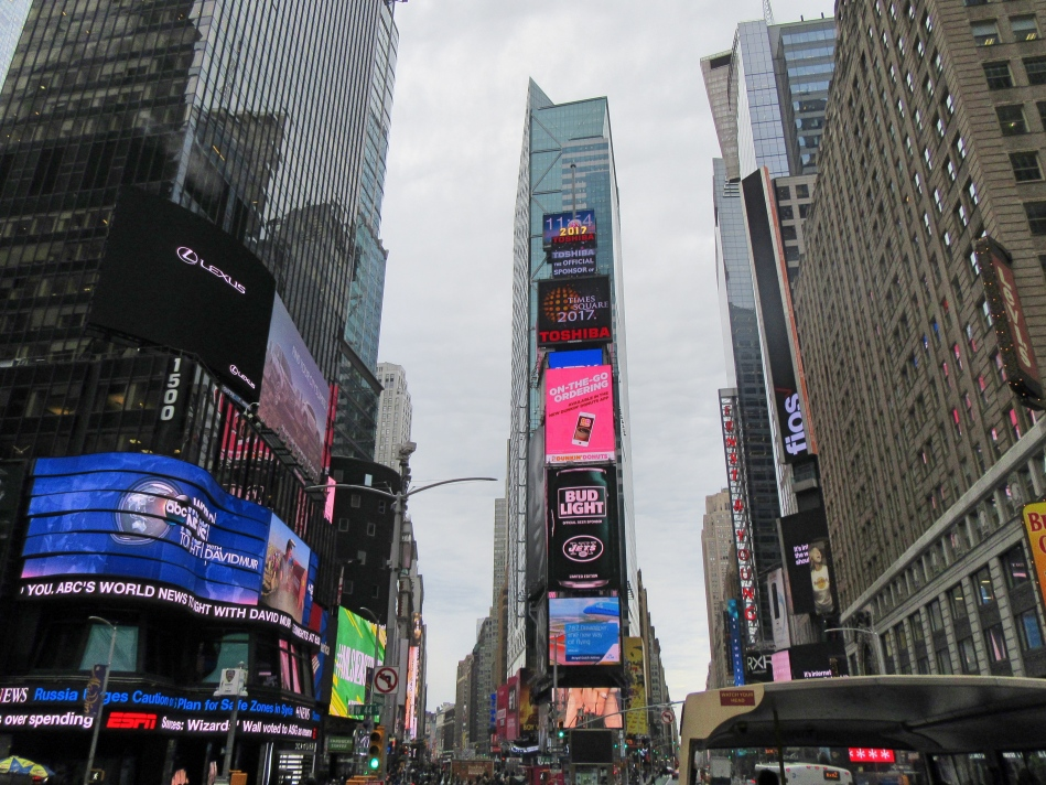 Times Square from Big Bus Tours, New York