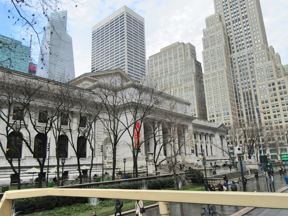 New York Public Library from Big Bus Tours