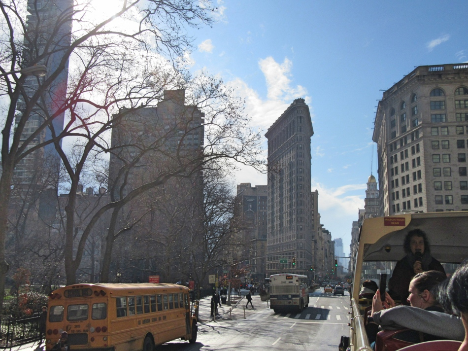 The Flatiron Building from Big Bus Tours, New York