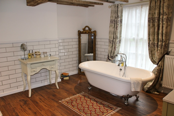 Bathroom at The Vicarage, Cranage, Cheshire, England
