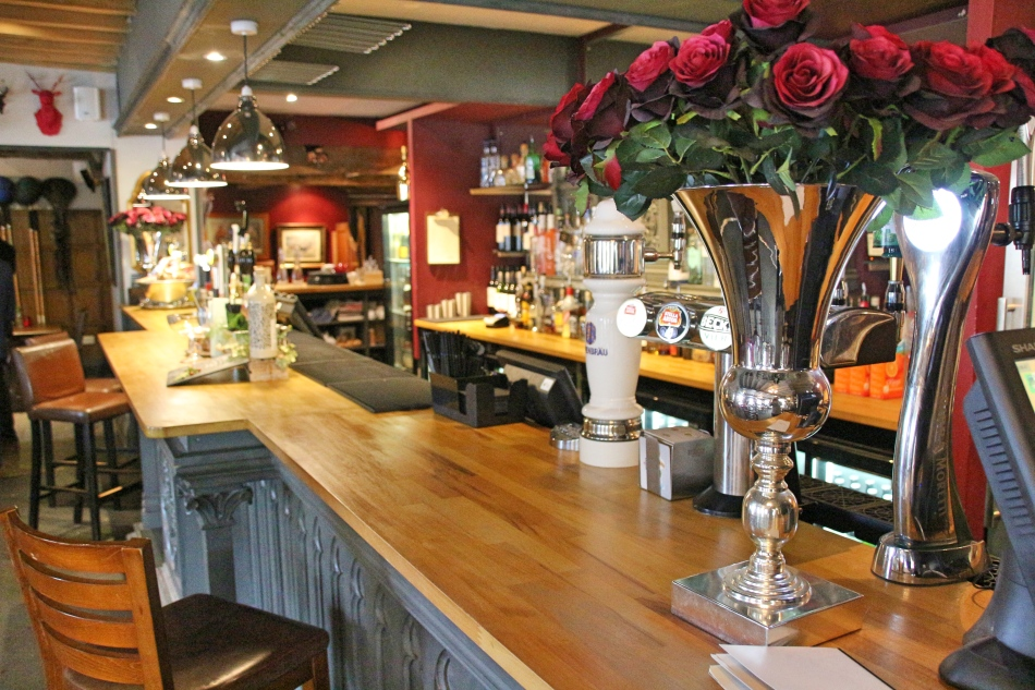 Bar at The Vicarage, Carnage, Cheshire, England