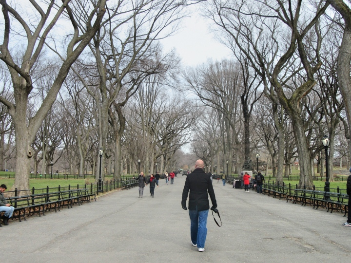 The Mall, Central Park, New York, America