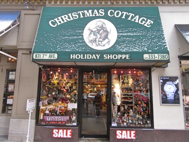 Christmas shop at The Wellington, New York, America