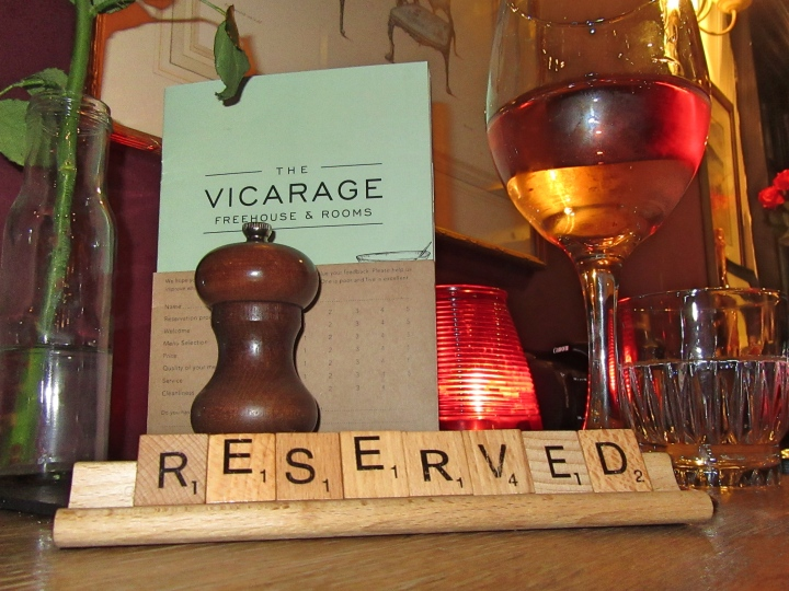 Dining at The Vicarage, Cranage, Cheshire, England