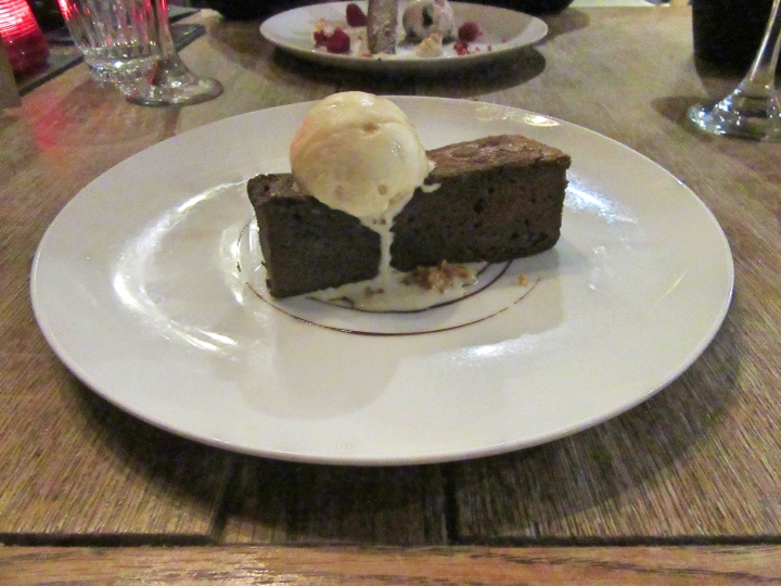 Chocolate Brownie at The Vicarage, Cranage, Cheshire, England