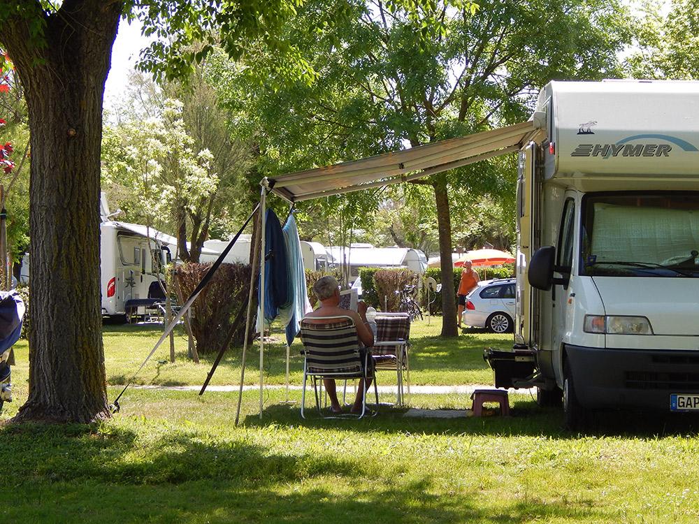 Camping at Pra' delle Torri Holiday Centre, Italy