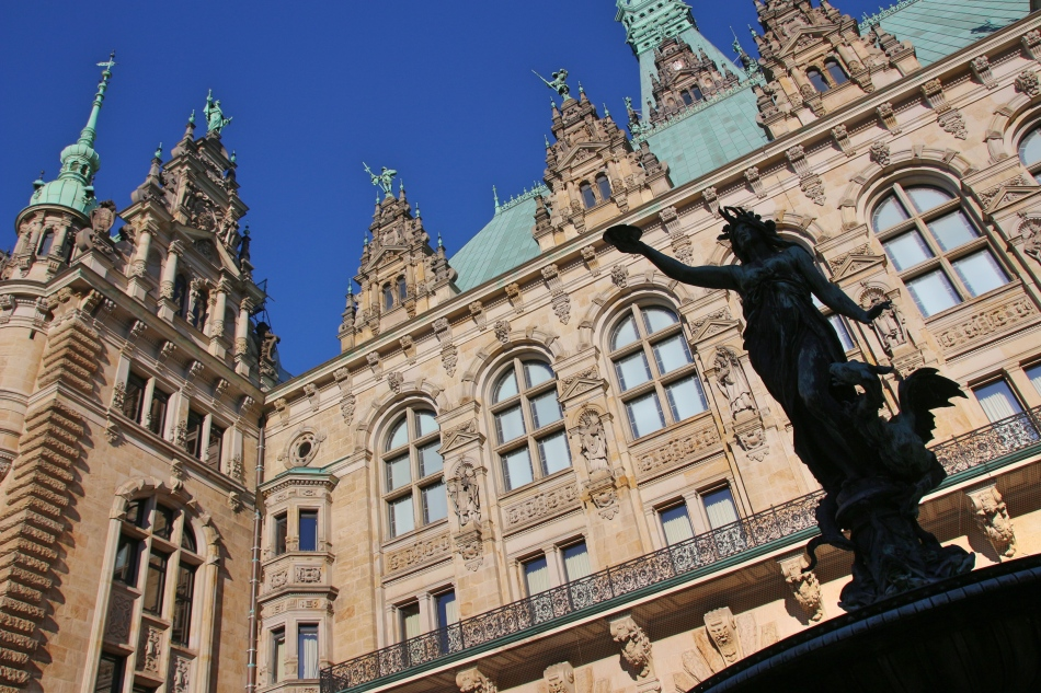 Rathaus Hamburg in Germany