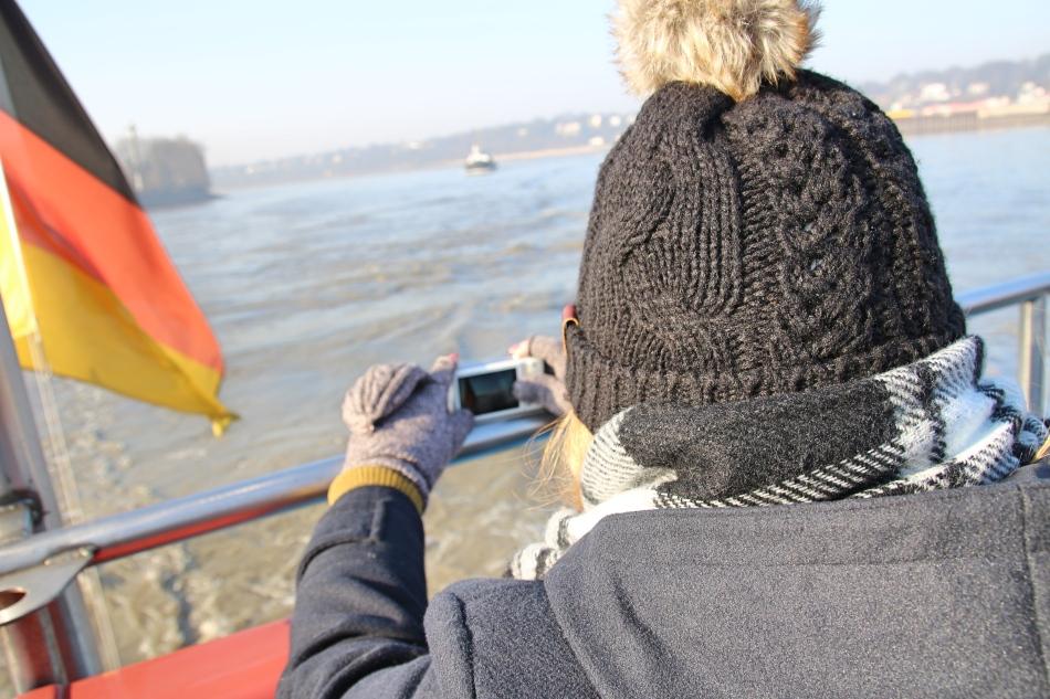 Cruising on the River Elbe, Hamburg Germany