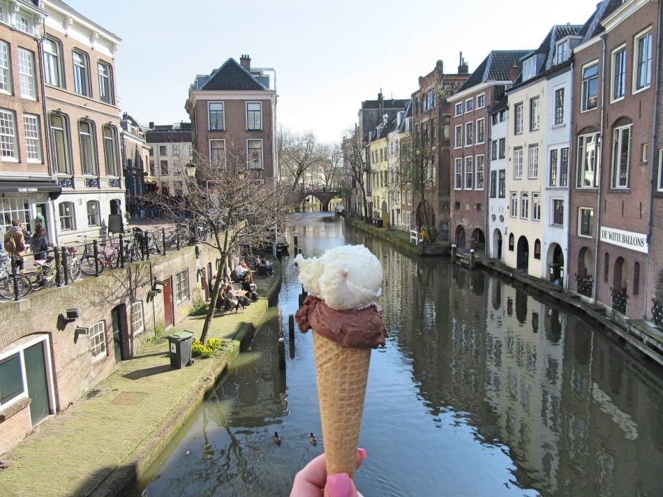 Ice Cream in Utrecht, The Netherlands