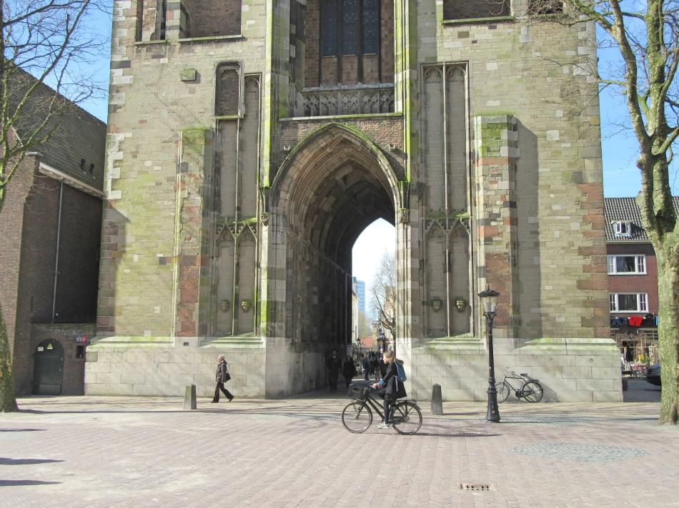 Walk way through Dom Tower in Utrecht, The Netherlands