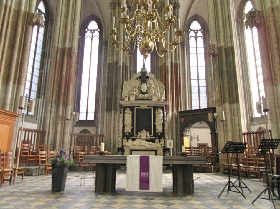 Alter in St Martin's Cathedral (Dom Church) in Utrecht, The Netherlands