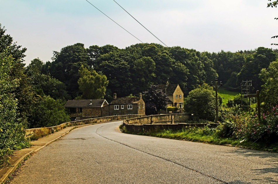 North Yorkshire Country Lane, England