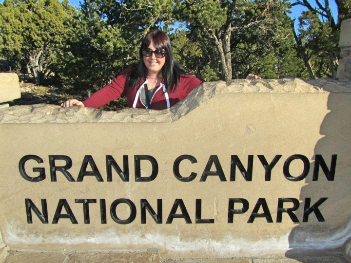 Vicky at The Grand Canyon