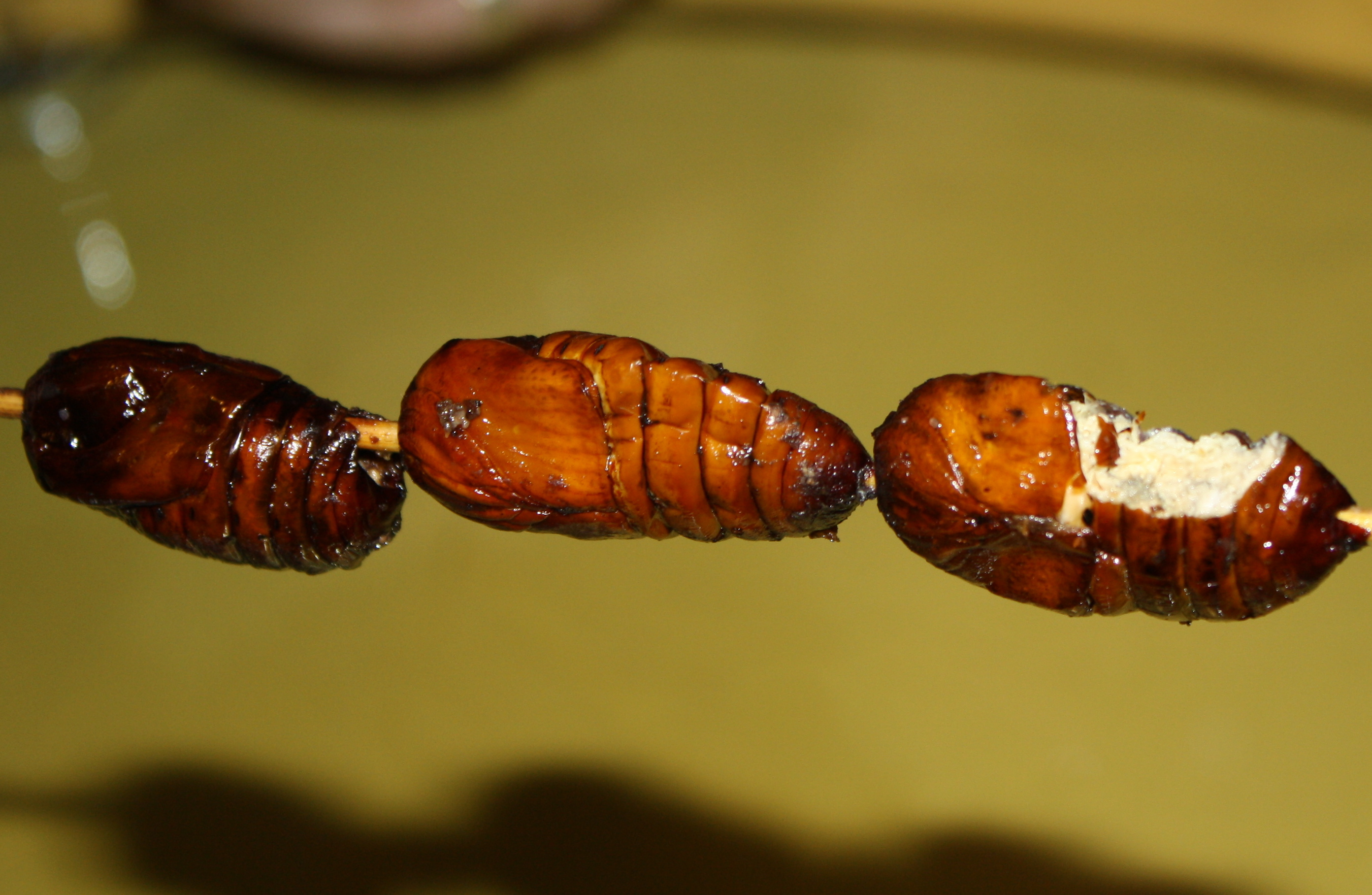 Fried Silkworm in China
