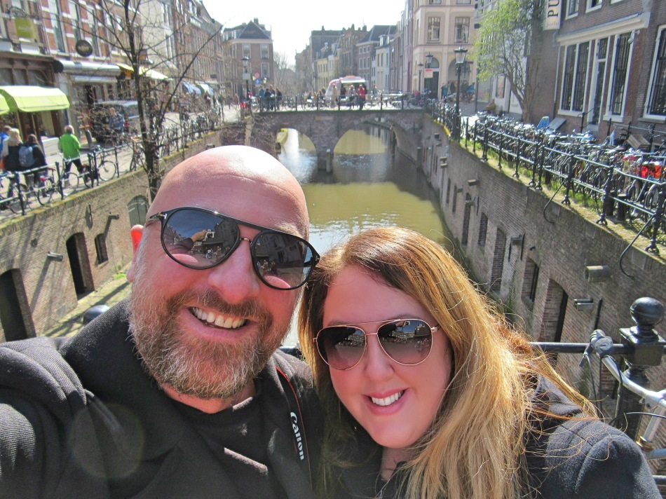 Mr ESLT and I in Utrecht, The Netherlands