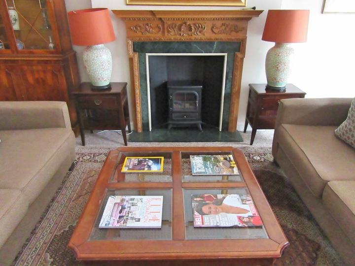 Living area at 9 Hertford Street, London
