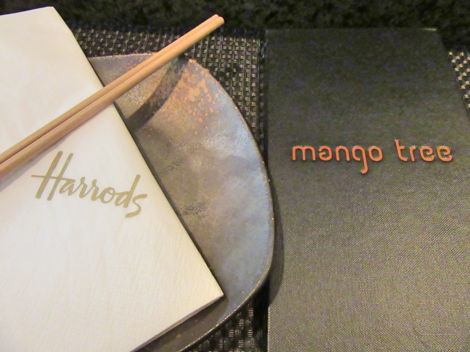 Mango Tree Menu, Harrods, London