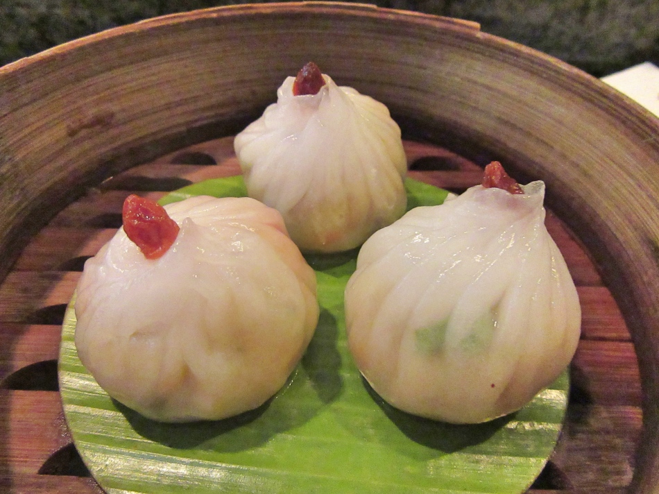 Yam Bean Vegetarian Dim Sum at Mango Tree, Harrods, London