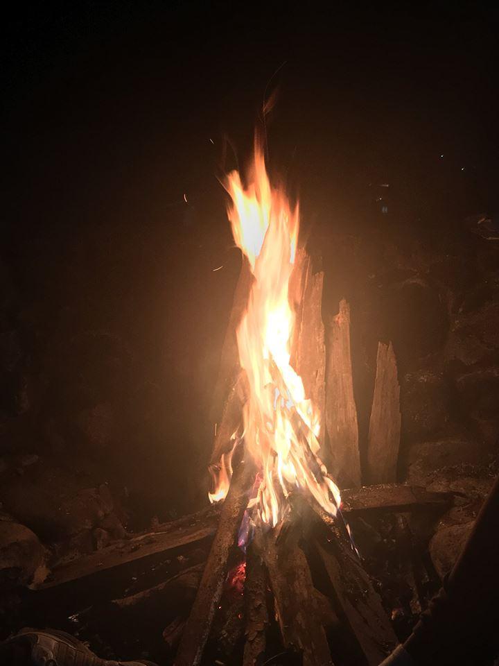 Camp fire in Sagada