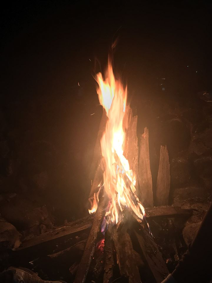 Camp fire in Sagada