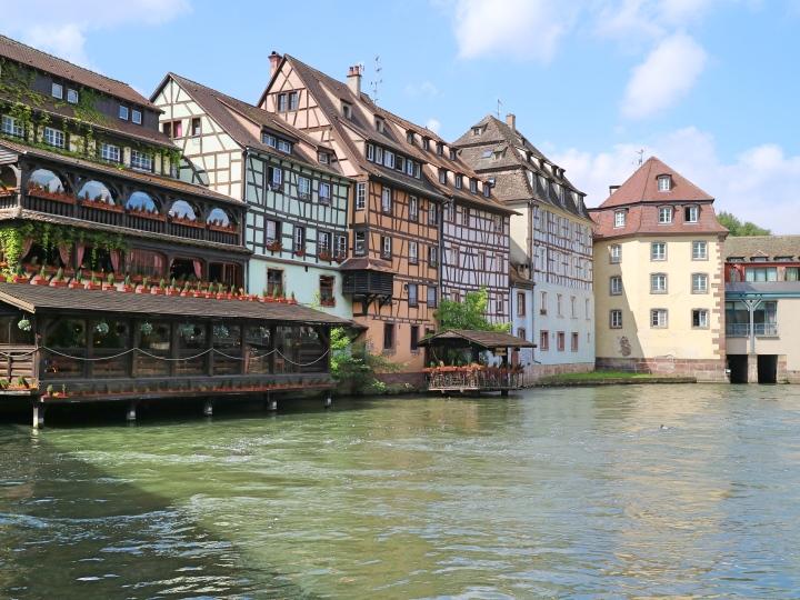 Cute Buildings in Strasbourg, France