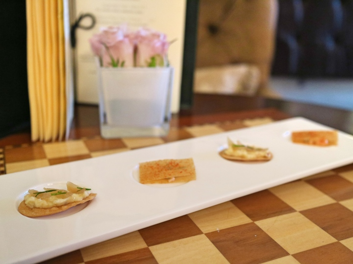 Canapes at Lords of The Manor, The Cotswolds