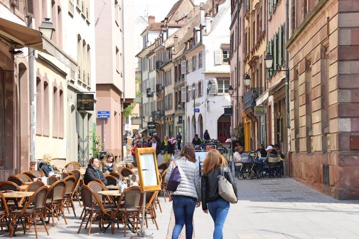 Streets of Strasbourg, France
