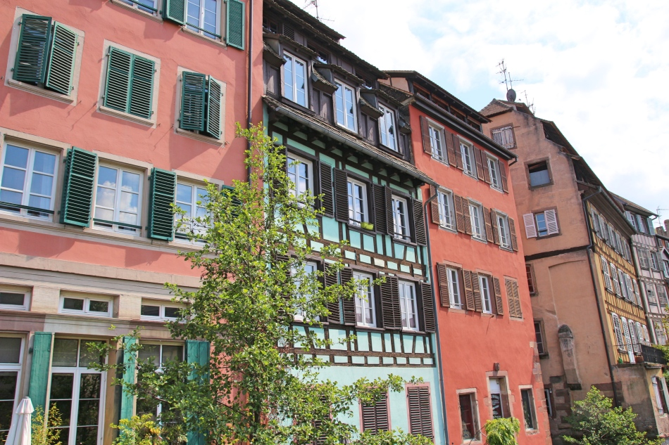 Buildings of Strasbourg, France
