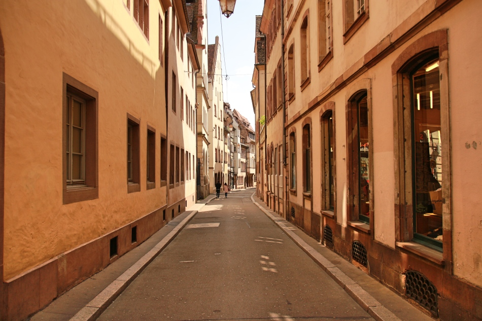 Streets of Strasbourg, France
