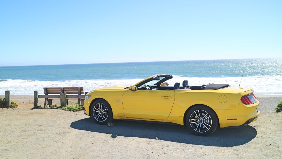 Car on the Pacific Coast Highway, California