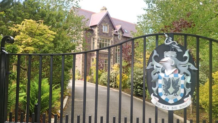 Gates at Penrhiw Hotel, St Davids, Pembrokeshire Coast, Wales