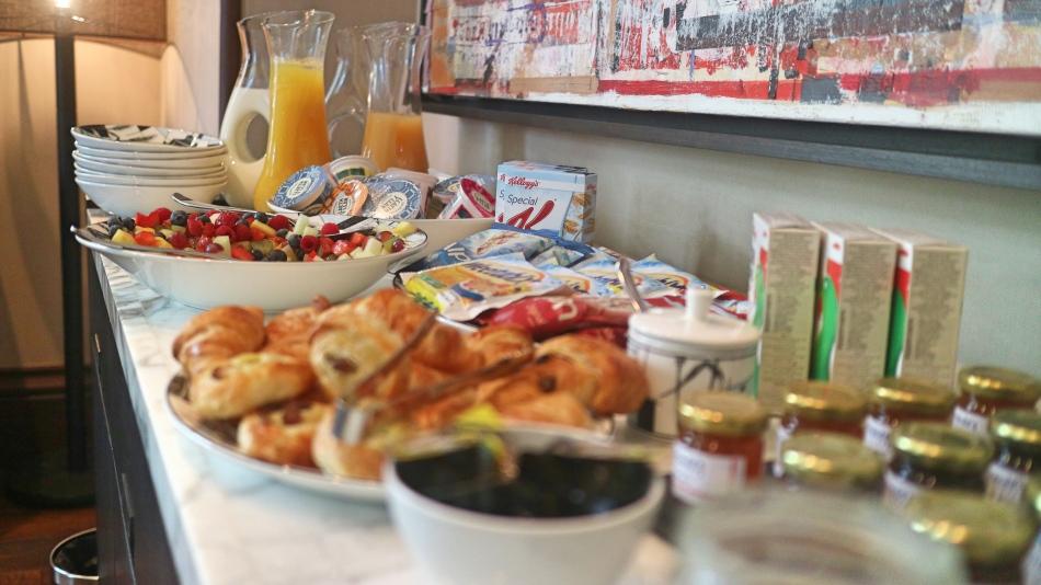 Breakfast Buffet at Penrhiw Hotel, St Davids, Pembrokeshire Coast, Wales