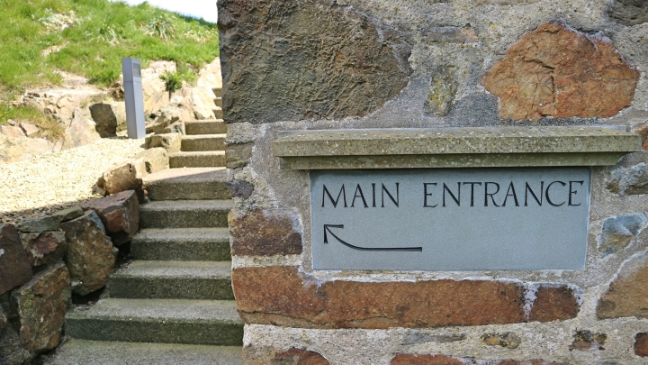 Main entrance at Roch Castle, Wales