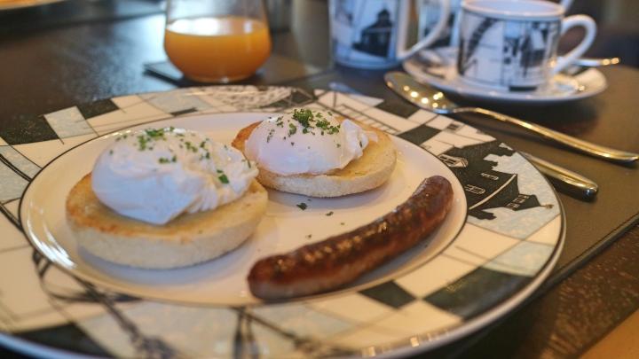 Breakfast at Roch Castle, Wales