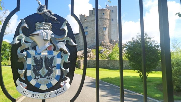 Gates at Roch Castle, Pembrokeshire Coast, Wales