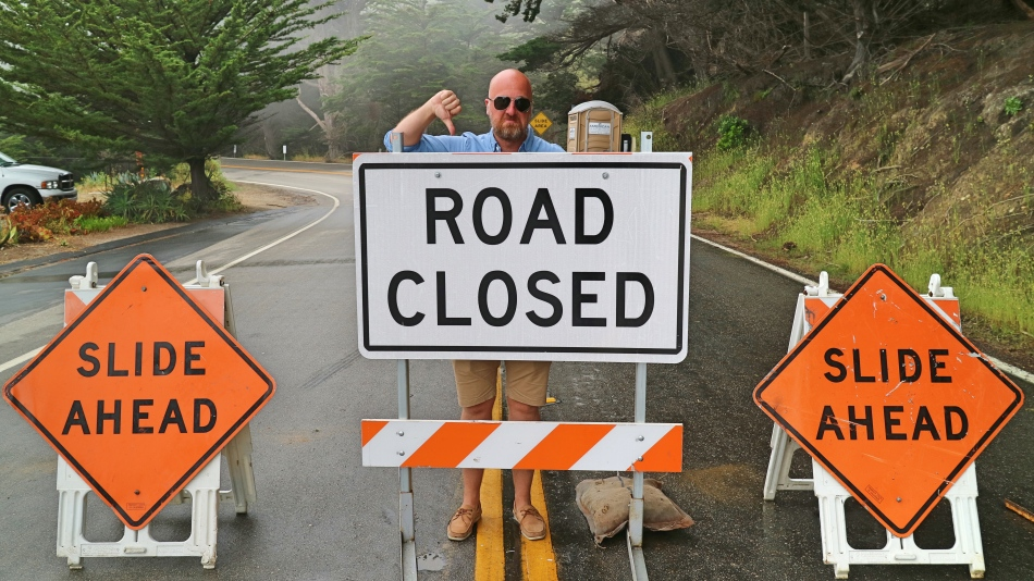 Road Closed, California Pacific Coast Highway