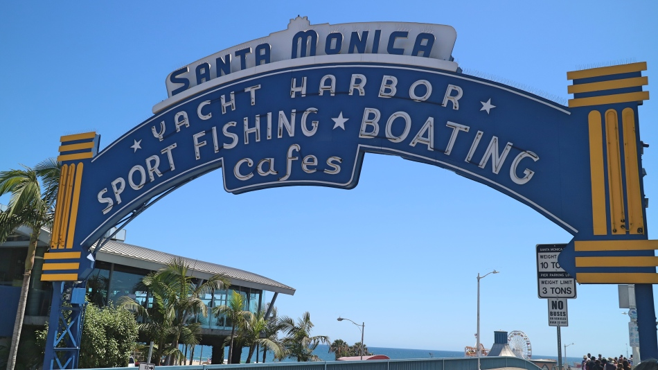 Santa Monica Pier SIgn, California