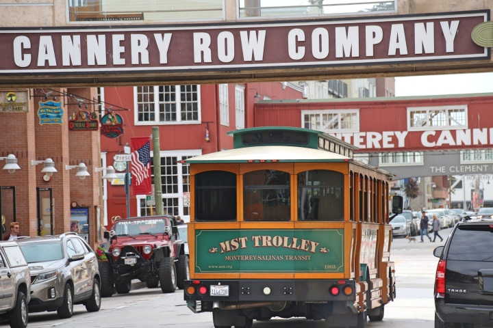 Trolley on Cannery Row, Monterey, California