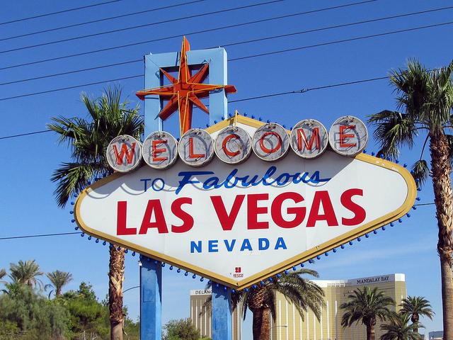 Las Vegas sign, The Strip, Nevada, USA