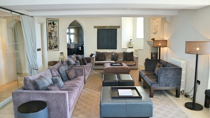 Lounge at Roch Castle, Haverfordwest, Wales