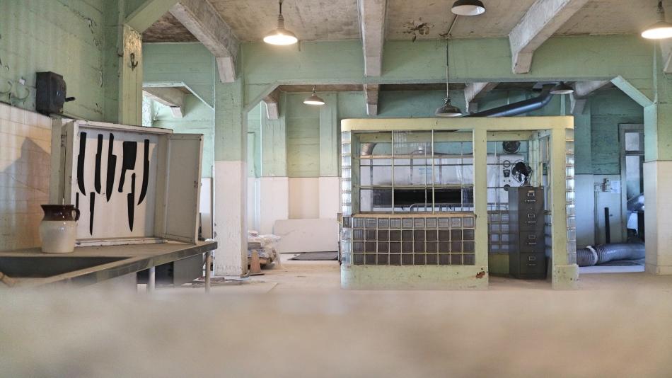 The kitchen at Alcatraz