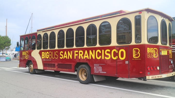 Sausalito Trolly Bus, Big Bus Tours, USA
