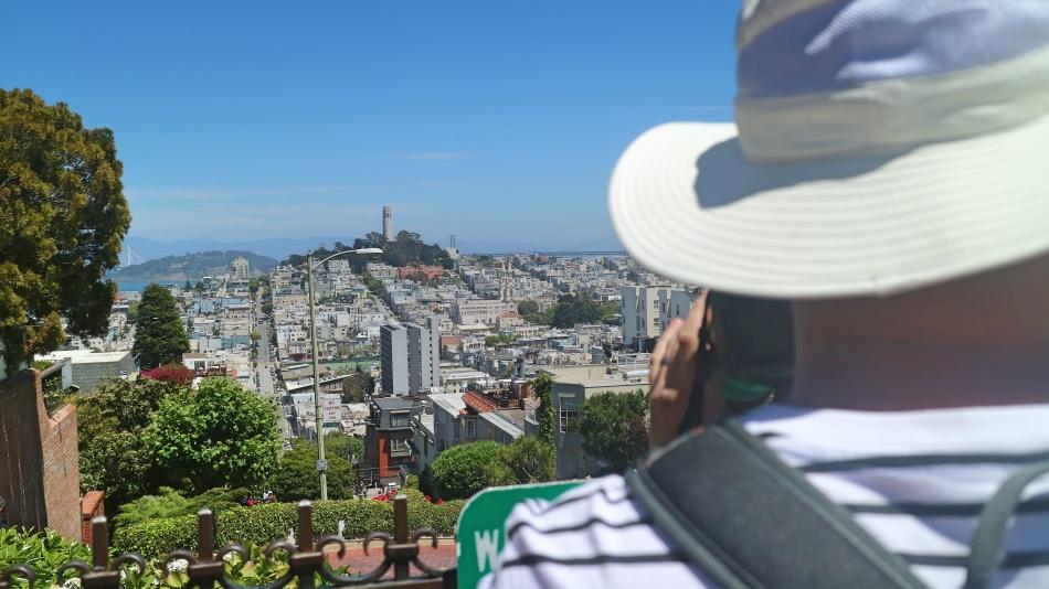 Views from Lombard Street, San Francisco, USA