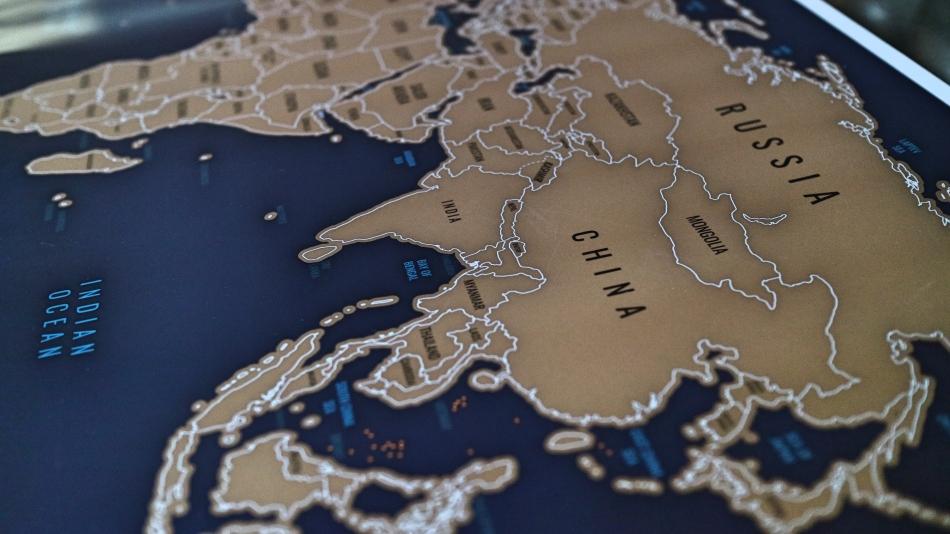 Voyage Mapper Scratch Off Map