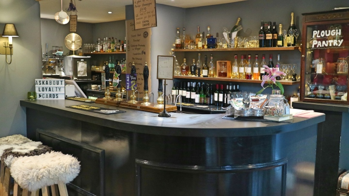 Bar at The Plough, Lupton