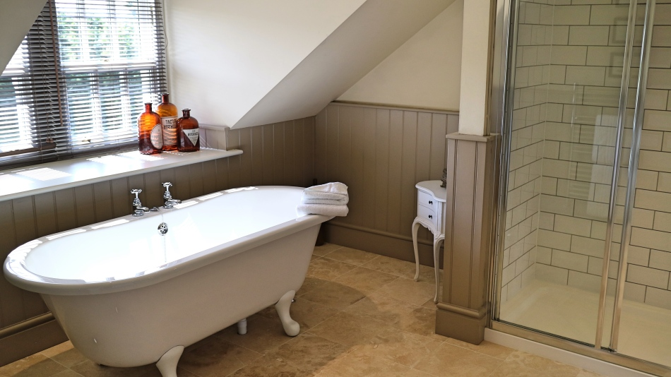Bathroom at The Plough, Lupton