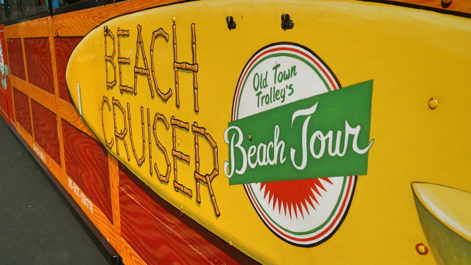 Beach Cruiser Bus to La Jolla, San Diego, California