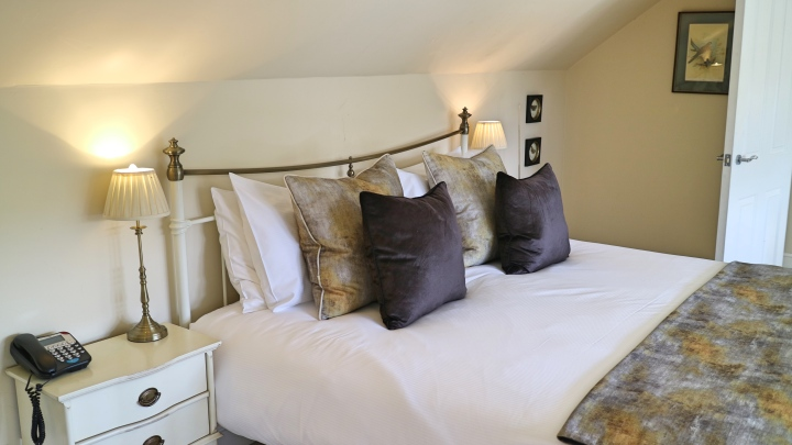Bed at The Plough, Lupton