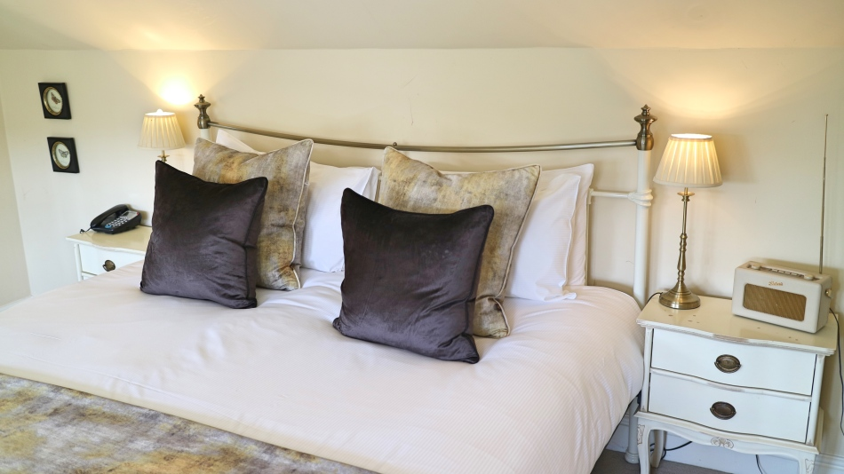 Close Up of Bed, The Plough, Lupton