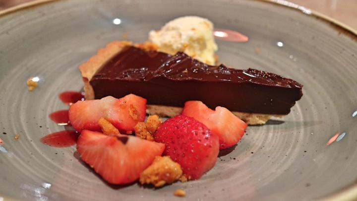 Dessert at The Plough, Lupton